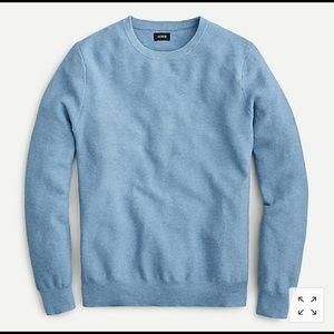 NWTJ.Crew Cotton Crewneck Sweater in Garter Stitch